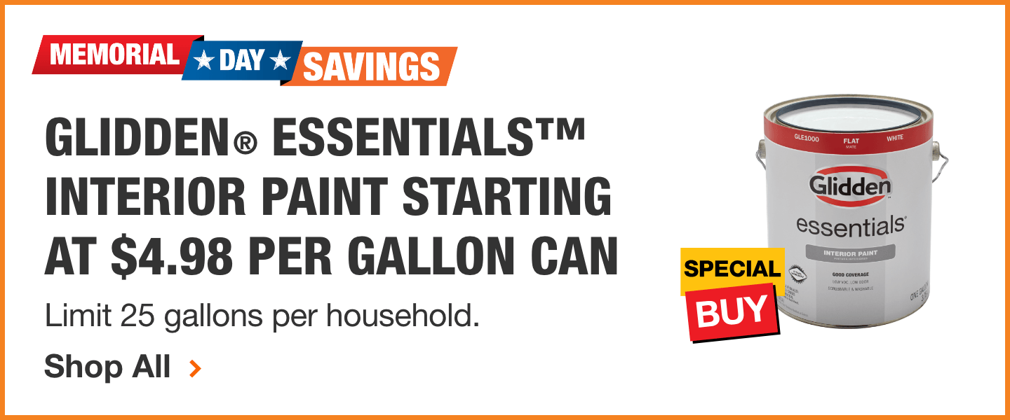 Glidden Essentials Interior Paint Starting At 4 98 Per Gallon Can Farmhouse Paint Colors For 2019 In 2019 Antique White Paints Farmhouse Paint Colors