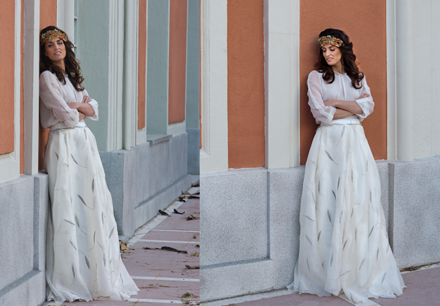 Elegant wedding dress by Laura Monge Atelier | My wedding Style ...