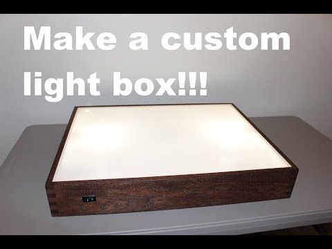 How To Make A Cheap Lightbox Youtube Diy Light Table