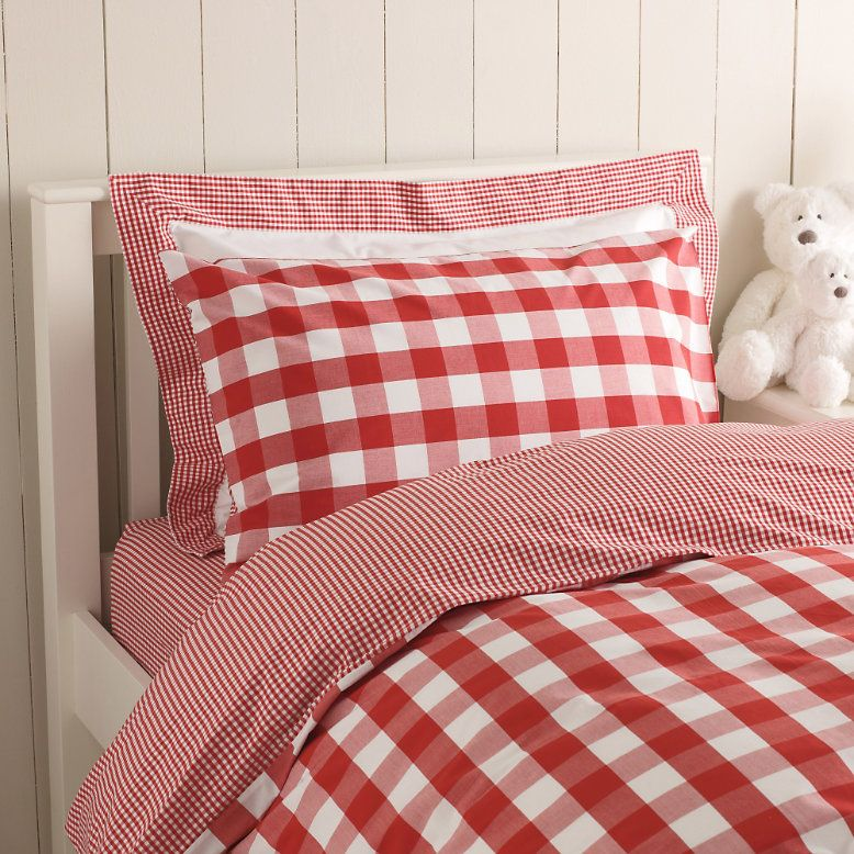 Red Reversible Gingham Bed Linen From The White Company Slaapkamer Interieur Ideeen Rood