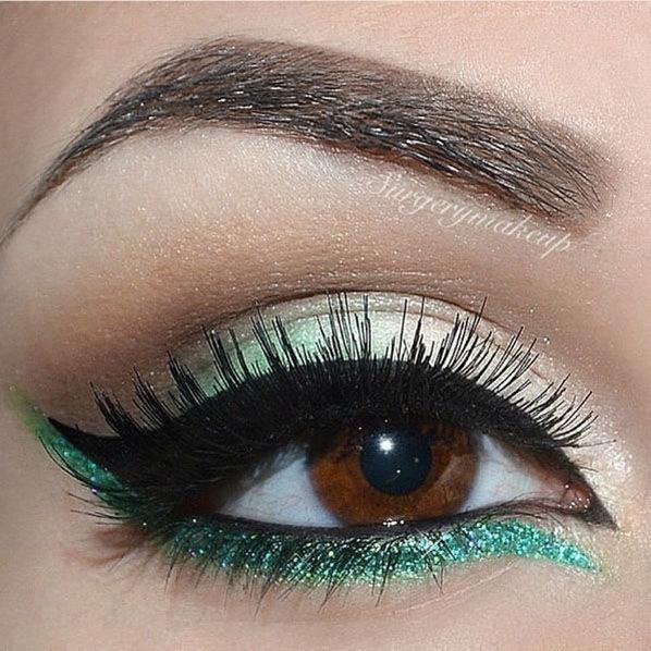Green Liner For Brown Eyes Eye Makeup Eyeshadow Eyebrow