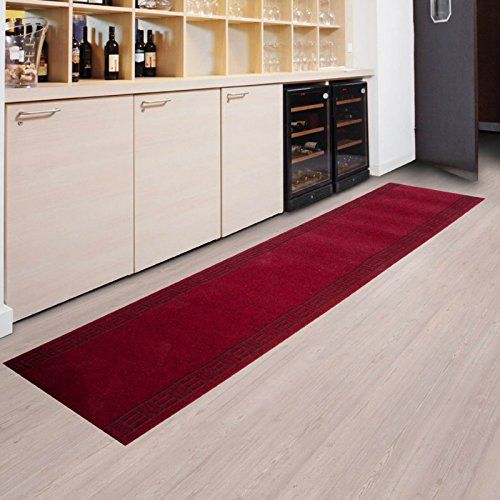 Tapis de passage casa pura® PRIMAVERA Rouge pour cuisin