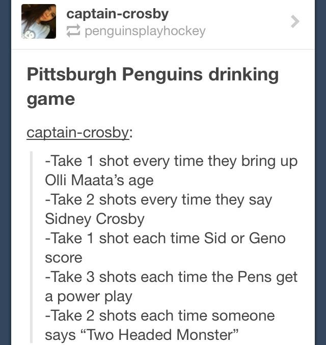 Penguins Drinking Game Where Were You All Last Season Penguins Hockey Pittsburgh Penguins Pittsburgh Sports