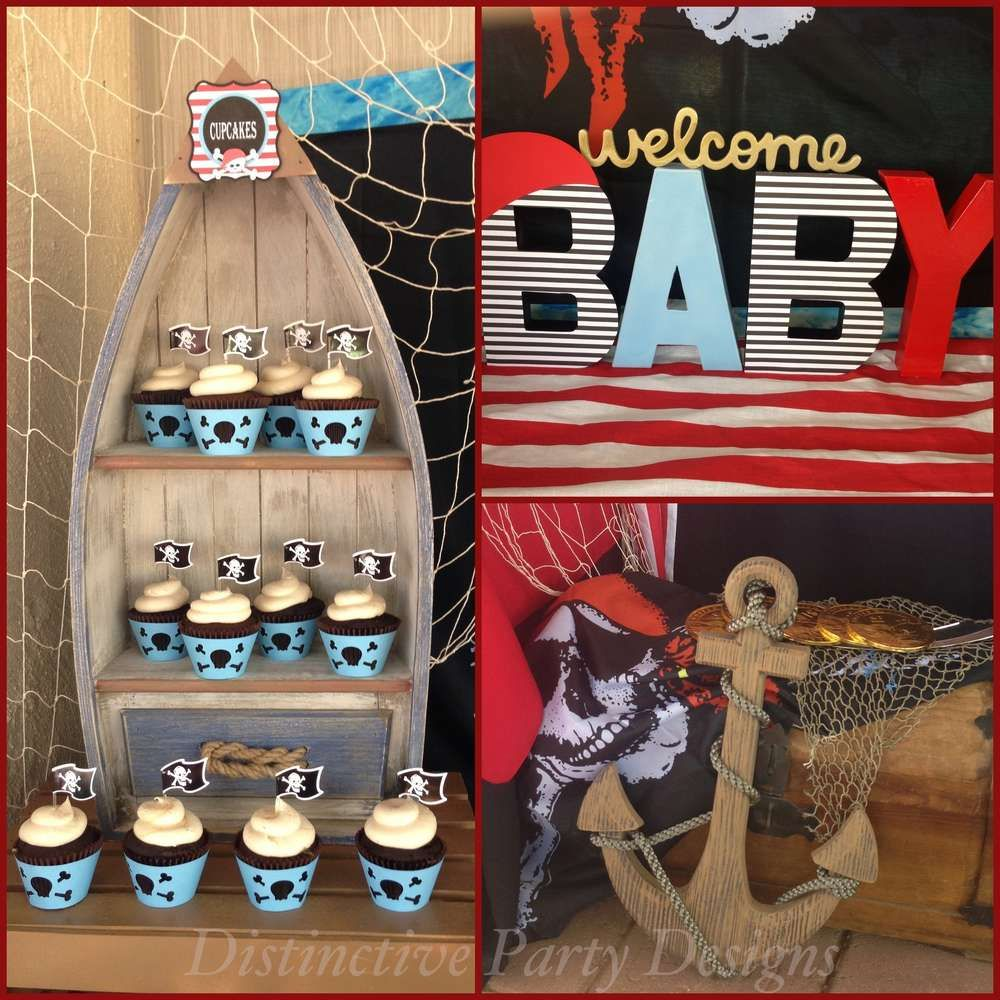 Baby Pirate Baby Shower Party Ideas | Pirate baby, Baby shower ...