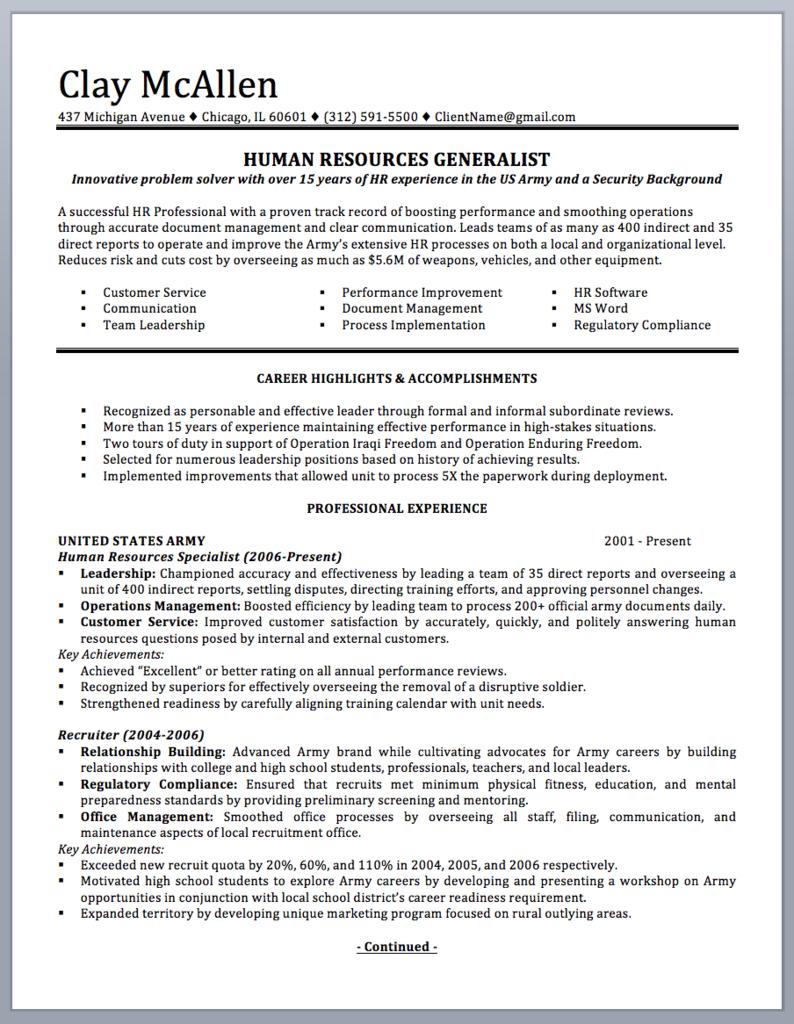 Military To Civilian Resume Sample And Writing Guide Guided Writing Resume Writing Examples Resume Writing