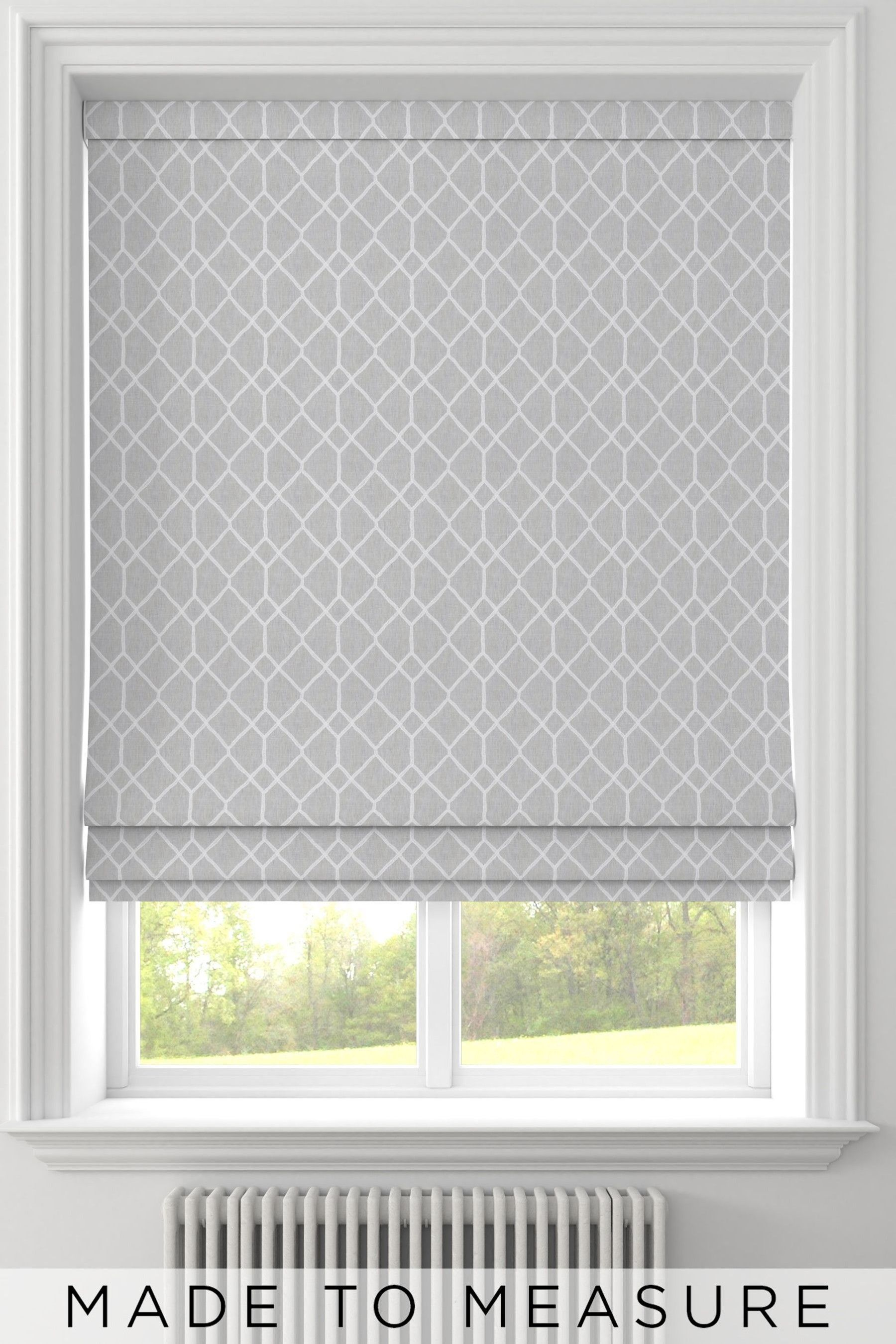 Buy Earle Silver Grey Made To Measure Roman Blind From The Next Uk