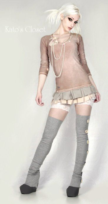 Steampunk Couture; This is super cute without being over-the-top steampunk.