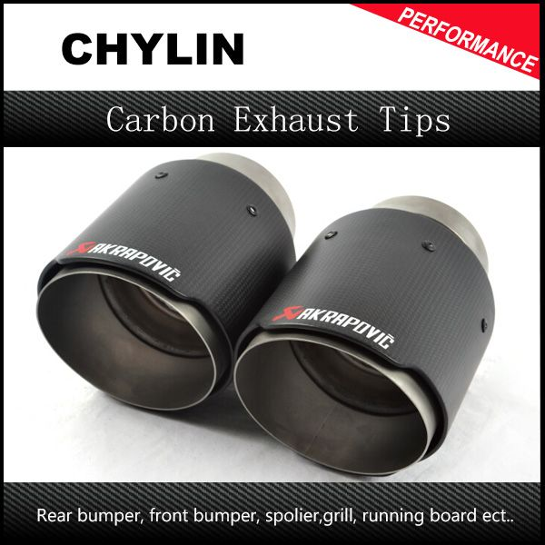 akrapovic car exhaust 2 5inch inlet 4