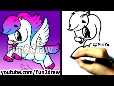 Fun Things To Draw How To Draw A Cute Horse Pony Easy Drawings