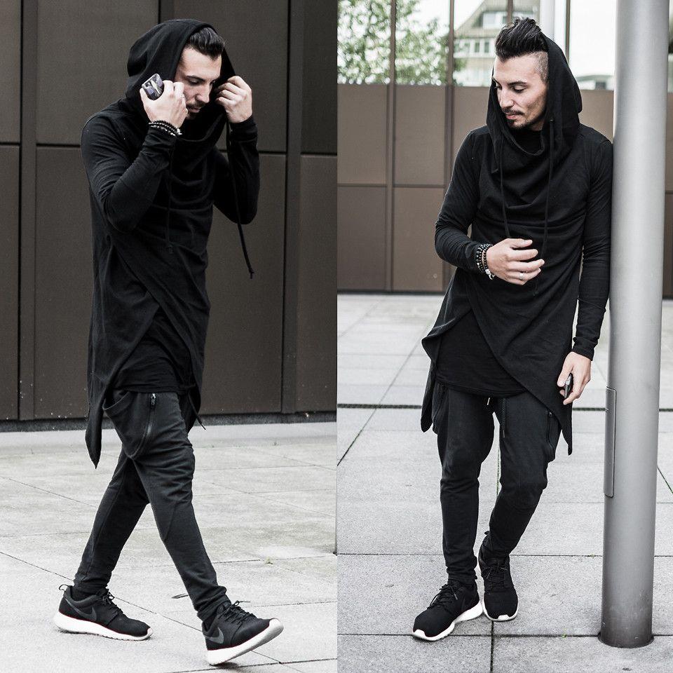 Nike Roshe Run Black Outfit Men