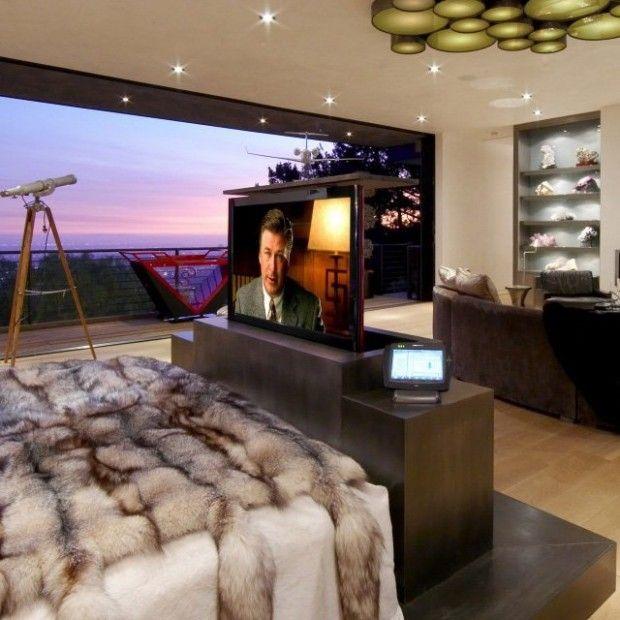 Stealth Motorized Tv Lift Cabinet Luxury Bedroom Master