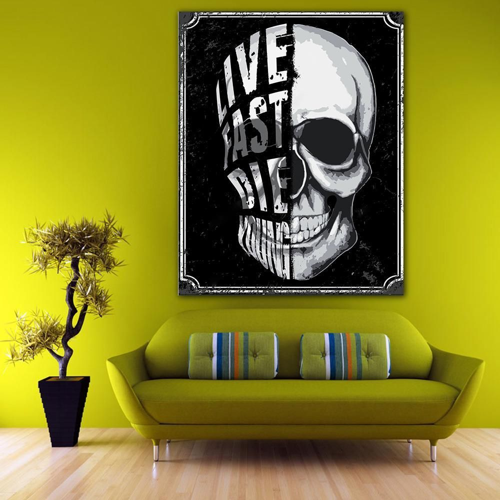 Original Skull Creeps Wall Decor Set Of 3 Gothic Home Decor Skull Wall Decor Goth Home