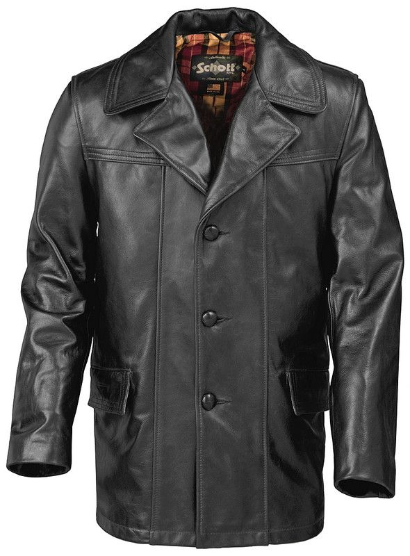 Lightweight cowhide fitted retro carcoat (XL TBC - to be worn over ...