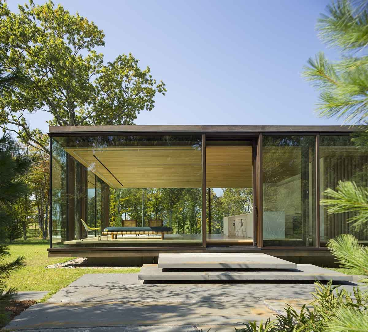 Lm guest house by desai chia architecture in dutchess county new york usa a