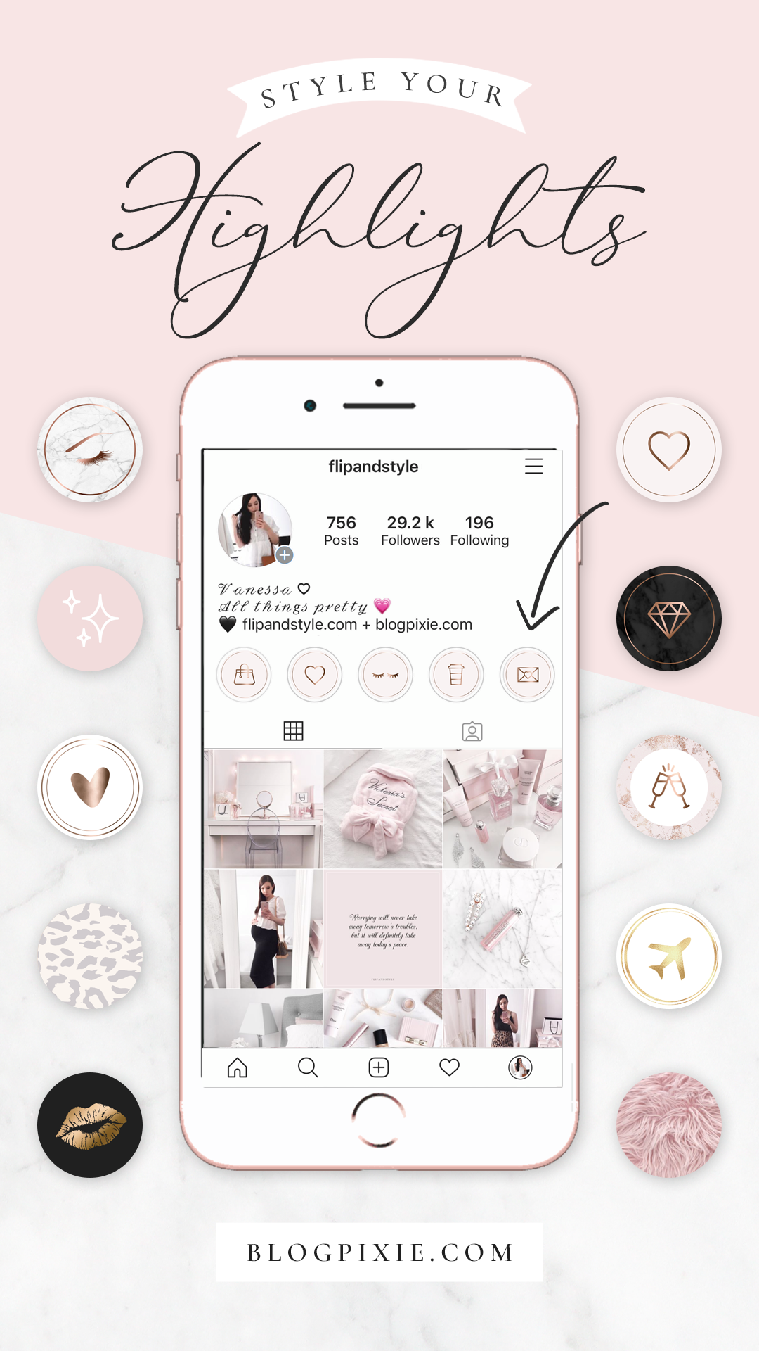 Instagram Highlight Icons Covers Pink Cute Aesthetic in