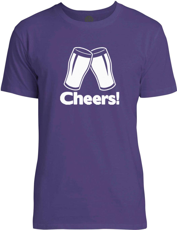 Cheers (White) Mens Fine Jersey T-Shirt