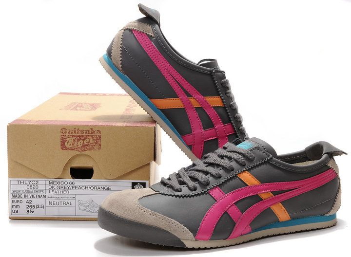 Onitsuka Tiger Mexico 66 DK. Gray/Peach/Orange Leather