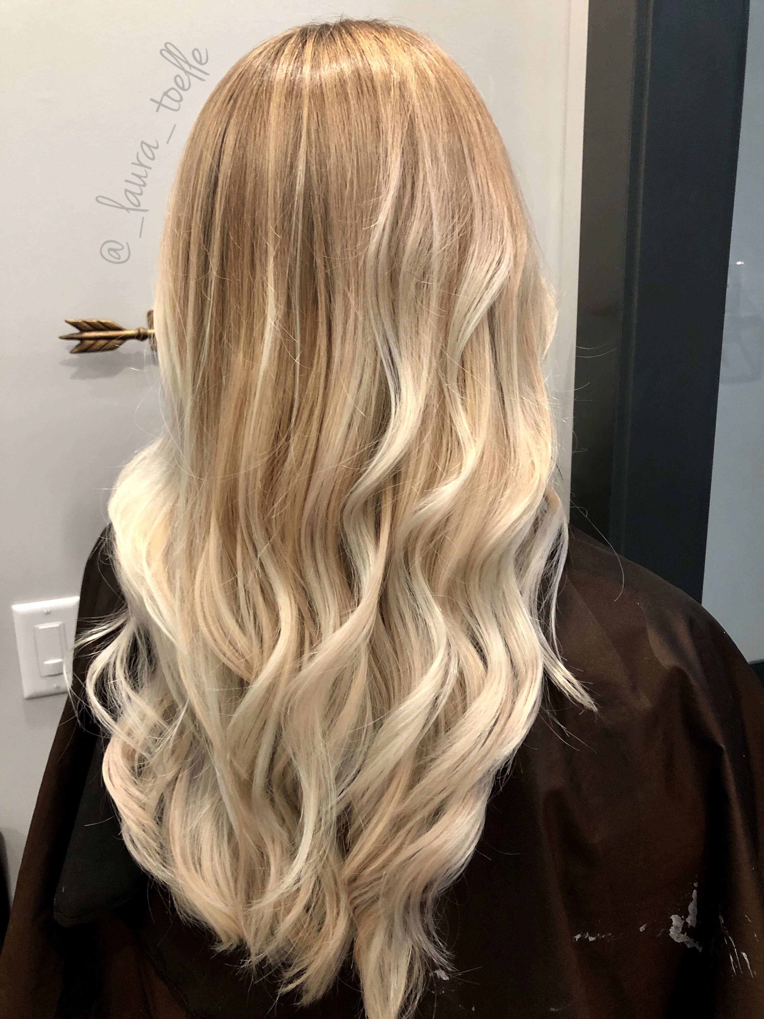 Blonde Balayage Hand Painted Blonde Baby Lights Lkhairstudios