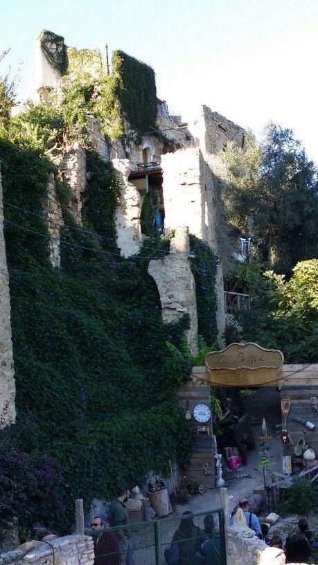 Bussana, Liguria Italy - Il borgo degli artisti e il più grande plastico ferroviario della Liguria - the old herthqaked artist town and the best railway model dite in the region