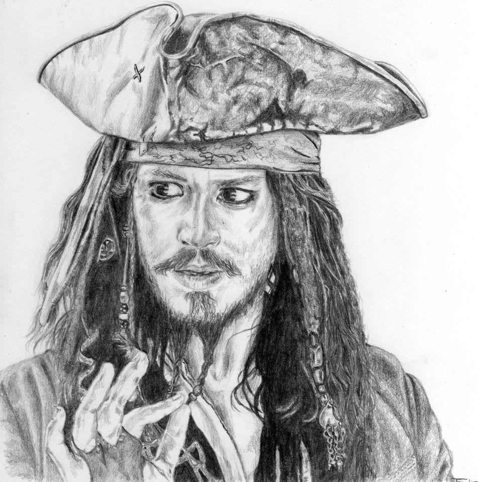 Captain Jack Sparrow Pirates Tattoos