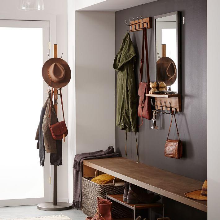 Industrial Hook Rack | Industrial, Industrial shoe rack and Foyer ...