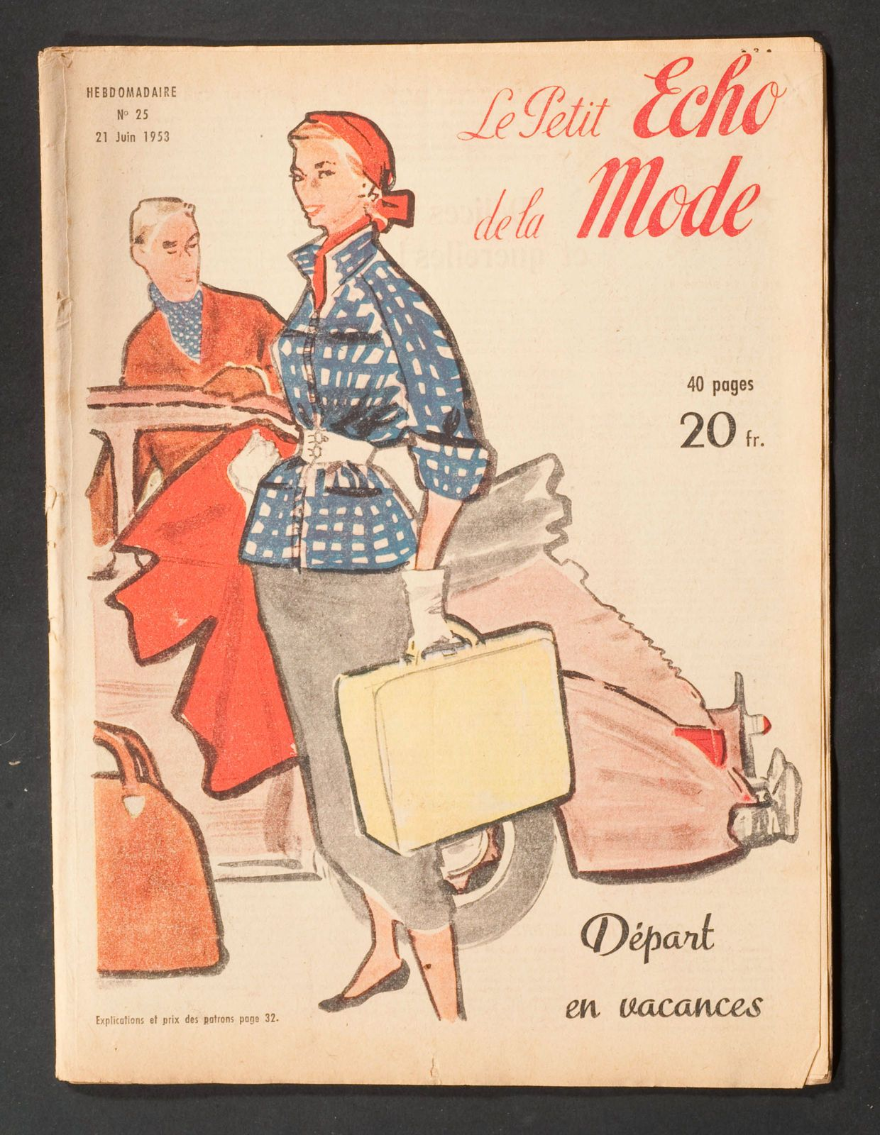 'ECHO DE LA MODE' FRENCH NEWSPAPER HOLIDAY ISSUE 21 JUNE 1953