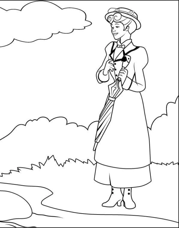 Mary Poppins coloring page   Mary Poppins   Pinterest   Mary poppins ...