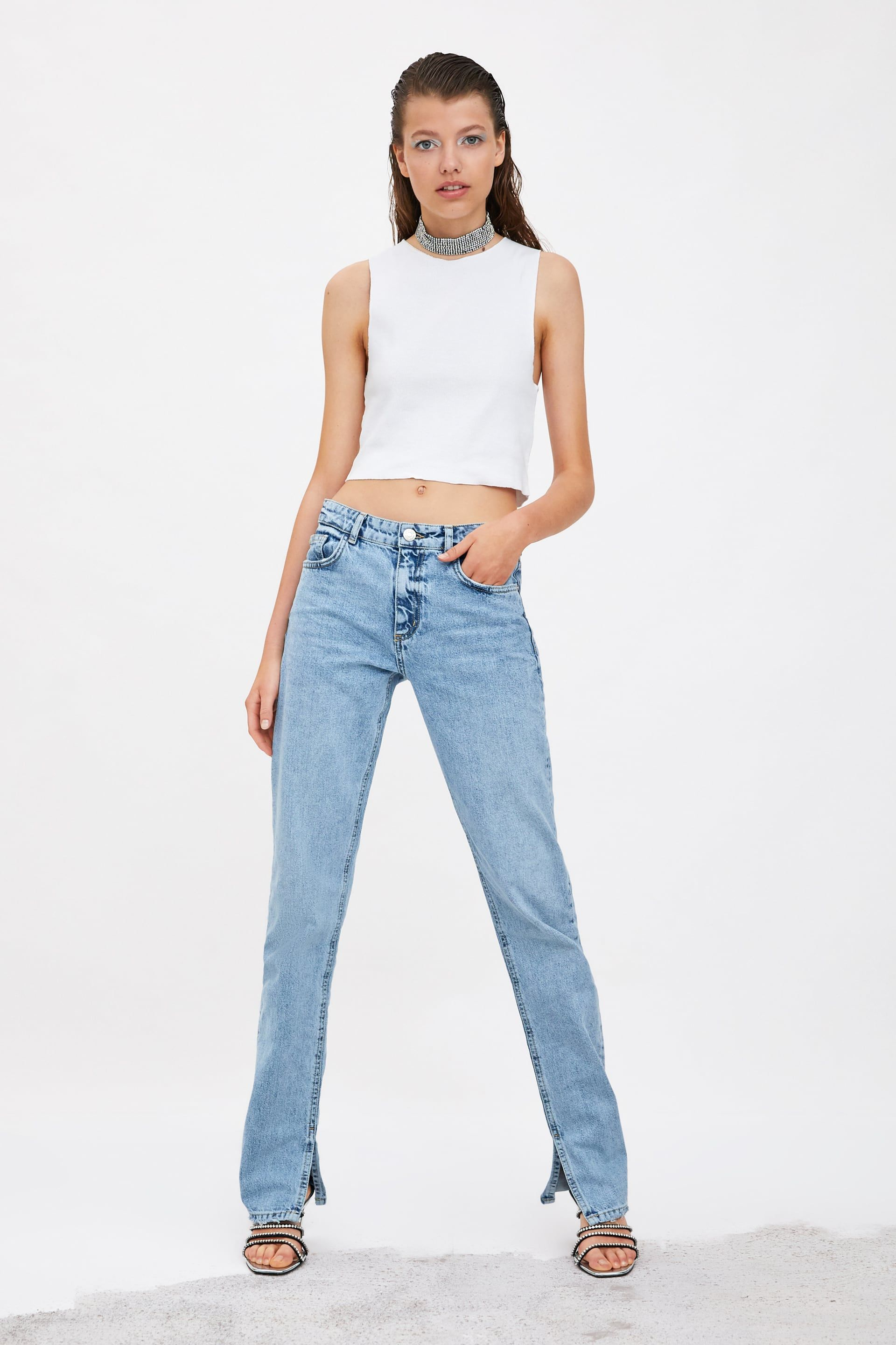 00f6a1ff4c JEANS HI RISE SLIM in 2019 | Products I Love | Jeans, Zara jeans ...
