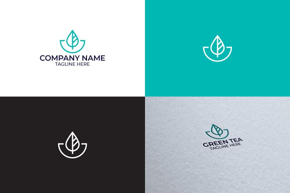 Tea Leaf Logo Design Logo Design Leaf Logo Logo Templates