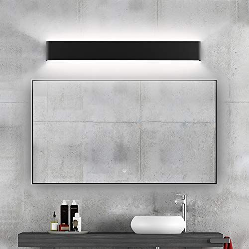 Photo of Ralbay Modern Bathroom Vanity Light 30W Make Up Mirror Light Cabinet Wall Sconce Light Picture Lights 32.6inch Natural White 4000K Black Vanity Lights Fixtures