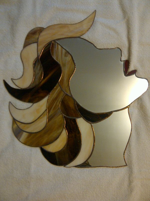 Marilyn Monroe Mirror Stained Glass Women Art Deco Men