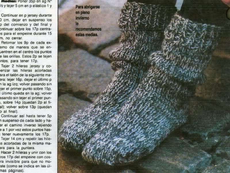 calcetines - Patrón para tejer calcetines o medias de invierno para ...