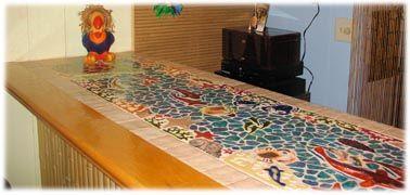 Tropical Ceramic Tile Bar