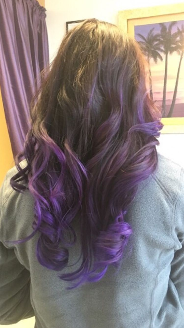 Purple Tips With Brown Hair Hair Pinterest Brown Hair Style