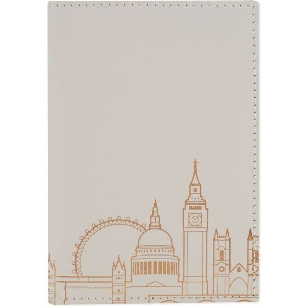 London skyline leather passport cover (£18) ❤ liked on Polyvore featuring bags and luggage