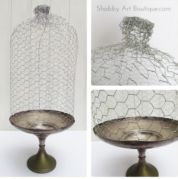 Shabby Art Boutique - DIY - how to make a chicken wire cloche 2 ...