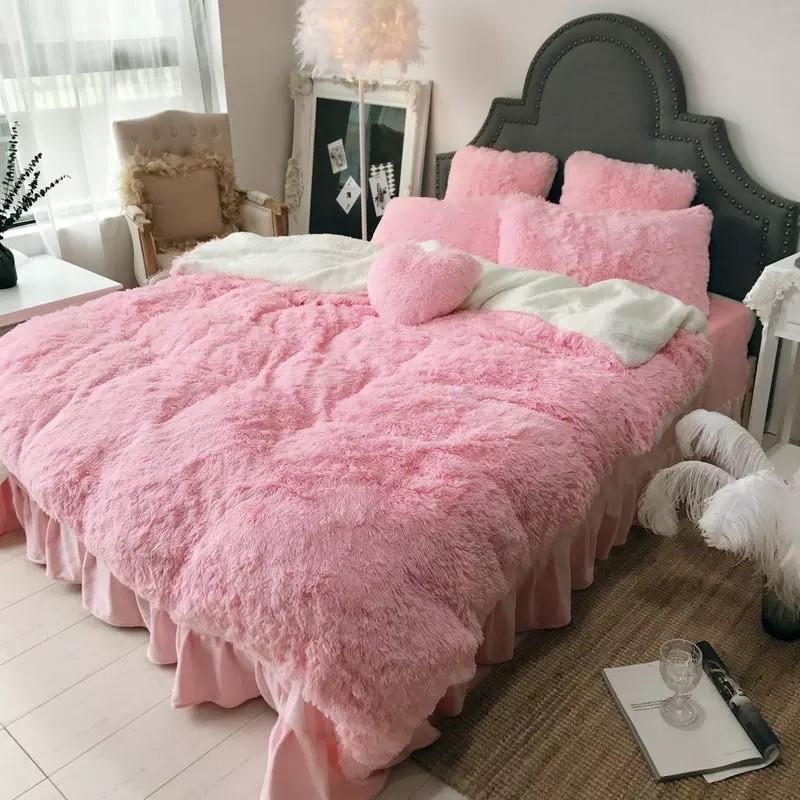 Luxury Fluffy 4 Pieces Bedding Set Stanza Di Bambino Camere Cameretta