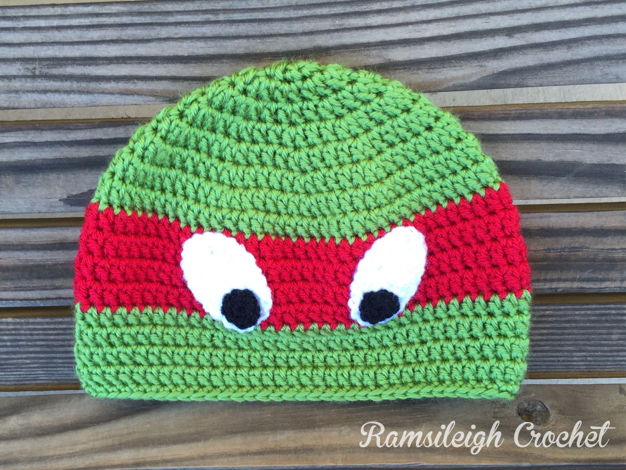 Ninja Turtle Hat {FREE PATTERN} for Alex!   ninja turtles ...