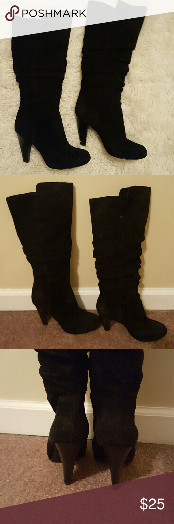 MIA SPIGA Genuine Suede Leather Knee High Boots Mia Spiga real leather knee high boots in great condition and so comfortable! Size 6 MIA Shoes Heeled Boots