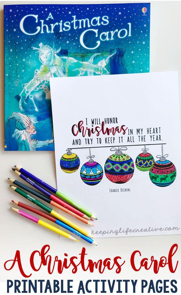 A Christmas Carol Interactive Notebook Activities | Christmas carol book, A christmas carol ...