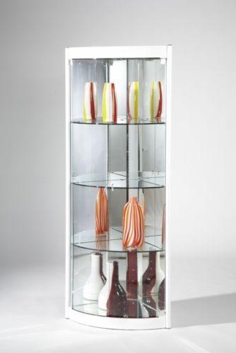 Modern Cristal Mirrored Corner Glass Curio Cabinet White Ebay Glass Curio Cabinets Curio Cabinet Furniture Stores Online
