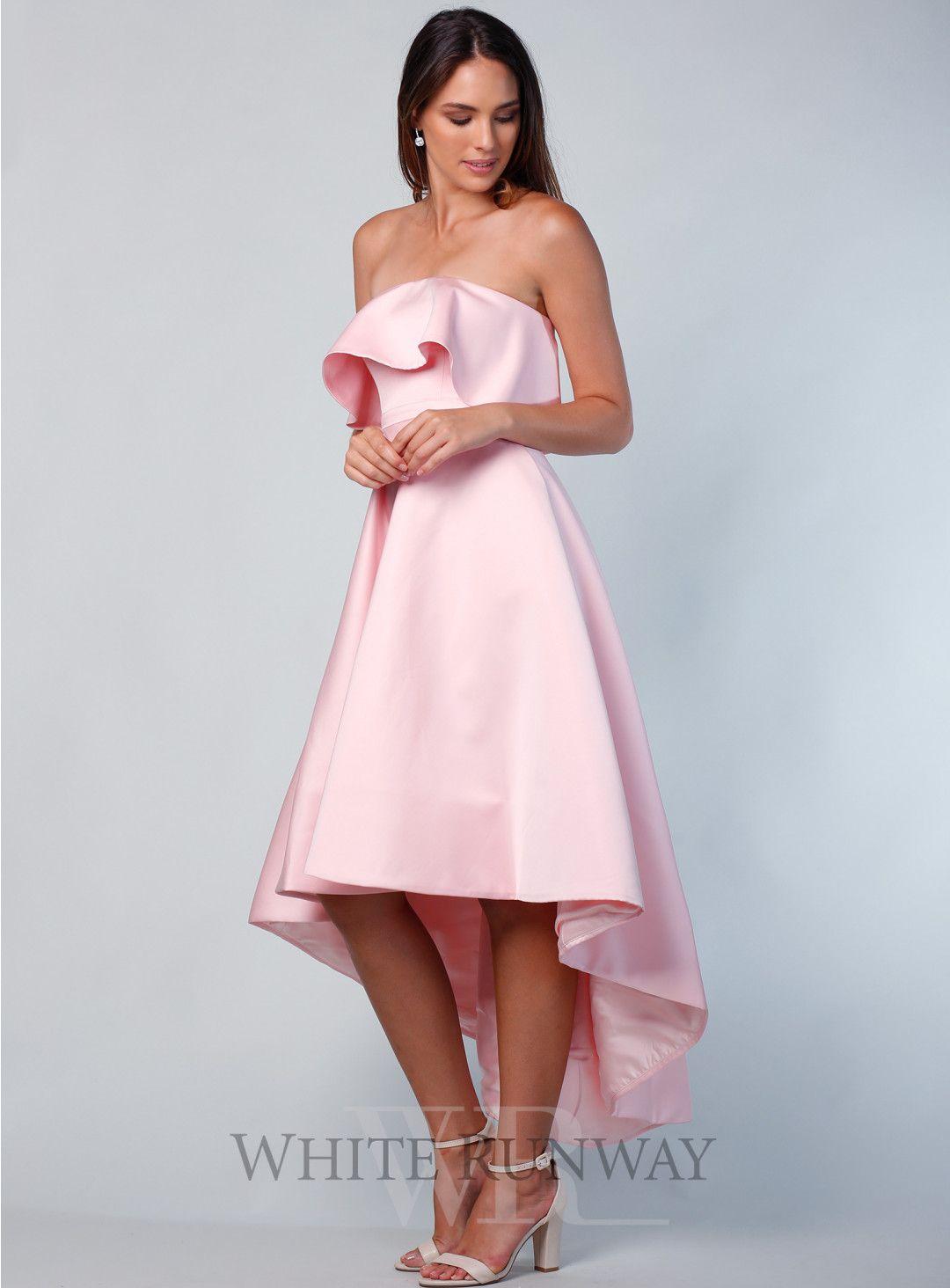 Pastel pink bridesmaid dress  Coco Asymmetric Dress  wedding  Pinterest  Weddingideas Chic