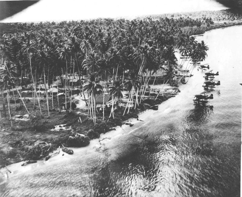 US reconnaissance photo of a Japanese seaplane base, New Guinea. - New Guinea during World War II 18 Best of Web Shrine
