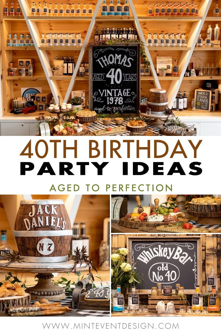 40th Birthday Party Ideas For Men There S Even A Whiskey Bar Set