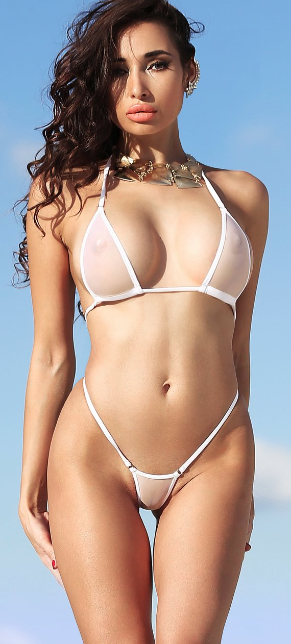 e381c708bd3d9 Sexy bathing suit Micro bikini swimsuit Thong bottom Cheeky two piece See  Through set Extreme pantie