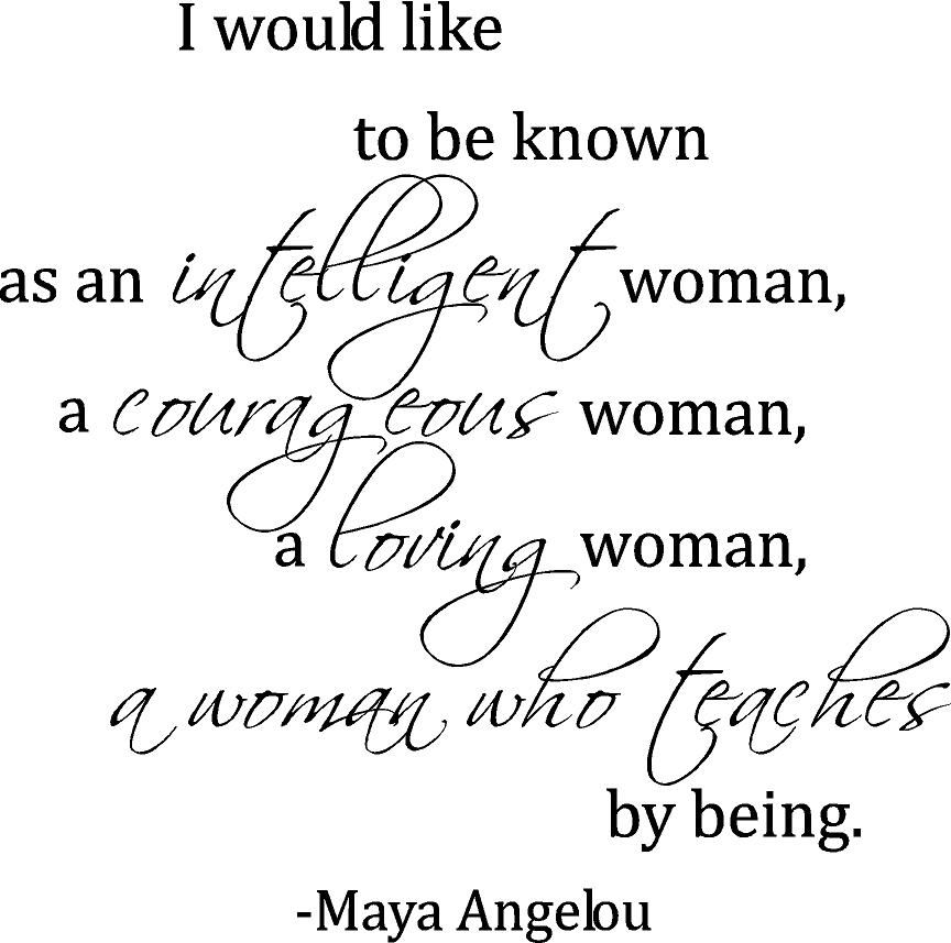 Woman Maya Angelou   Beautiful Wall Decals