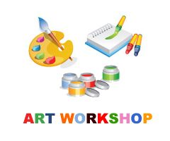 A blank canvas in the room can become an art workshop team building