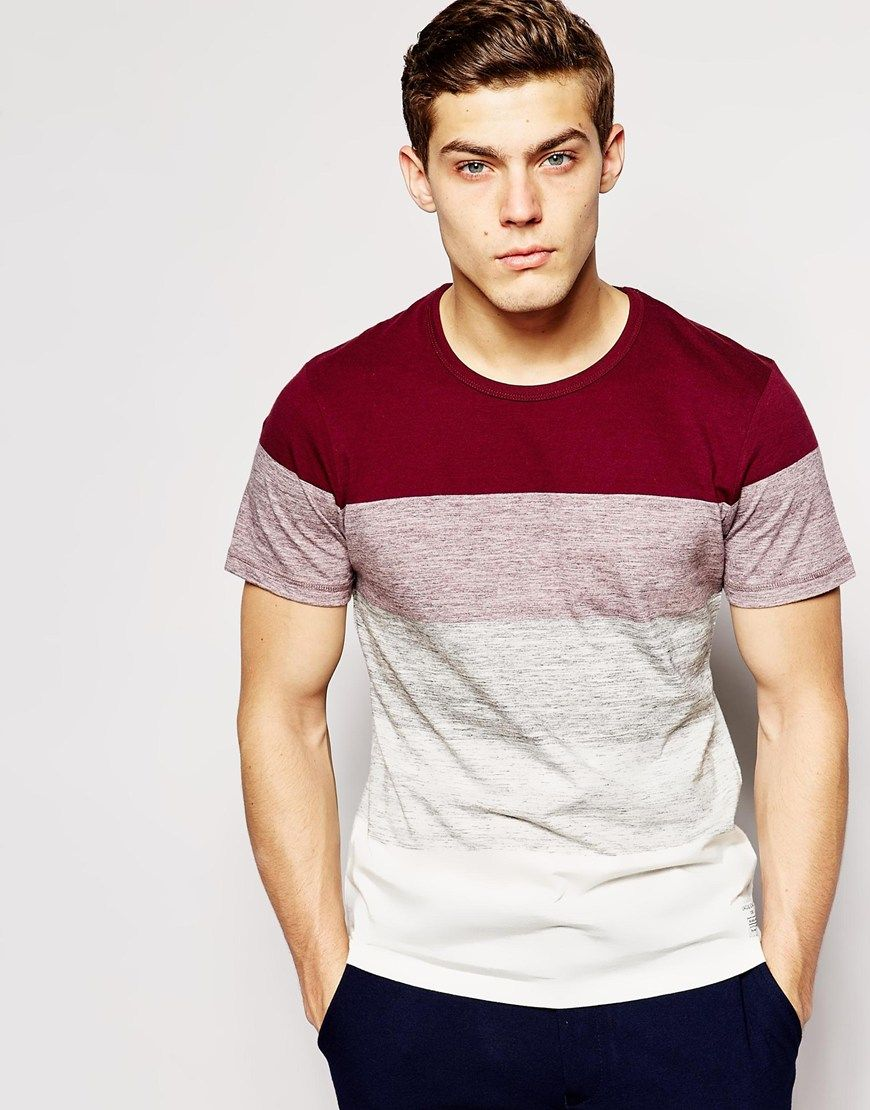 Jack & Jones Stripe T-Shirt at asos.com
