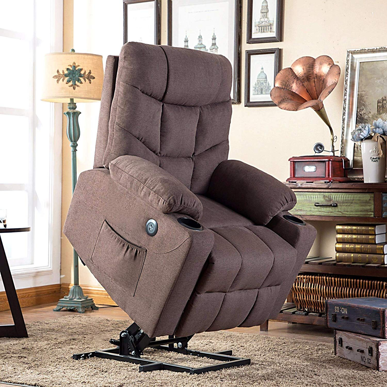 Electric power lift recliner chair sofa for elderly