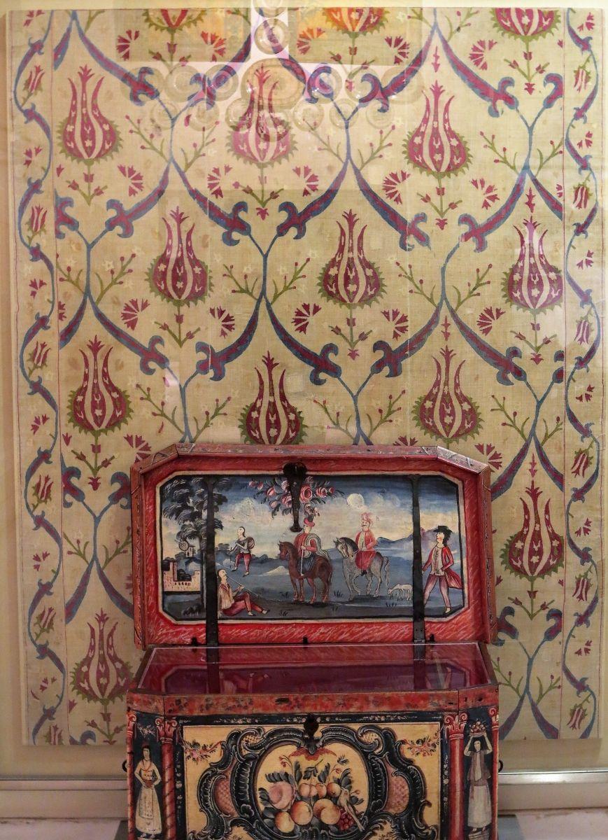 Skyros embroidery with ottoman design th century benaki museum